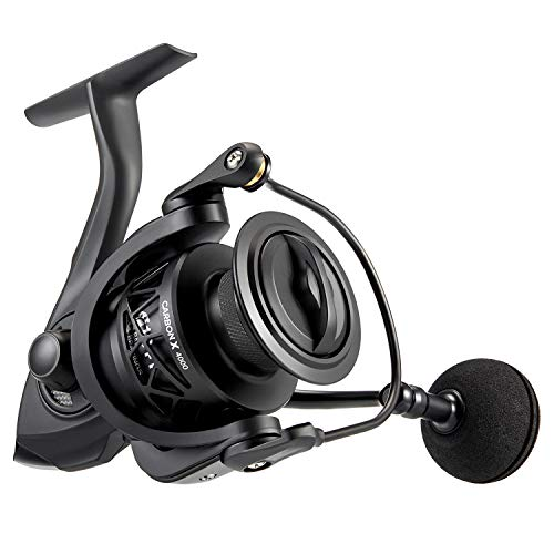 Piscifun Carbon X Spinning Reels - Light to 5.7oz, 6.2:1 High Speed Gear Ratio, Carbon Frame and Rotor, 10+1 Shielded BB, Smooth Powerful Freshwater and Saltwater Spinning Fishing Reel (4000 Series)