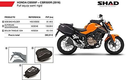 Kit-shad-3 - seitliche satteltaschen, halterung ständer, aufbewahrungstasche kit full kompatibel mit honda cbr 500r 2013-2016
