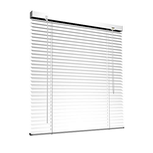 Victoria M. Aluminium Jalousie, 40 x 130 cm, weiß, Jalousie ohne Bohren, inkl. Klemmclips