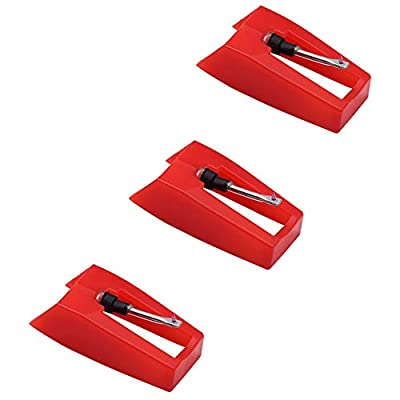 Record Player Needle, Diamond Stylus Replacement for Turntable, LP, Phonograph(Pack of 3)