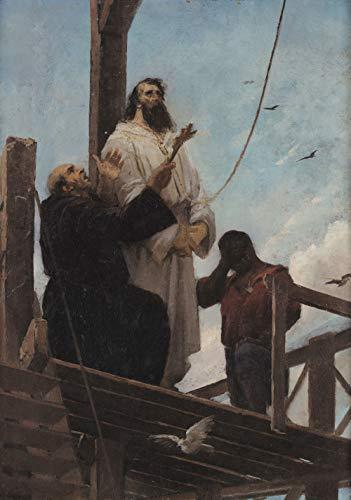 """Martírio de Tiradentes de Aurélio de Figueiredo 1893 em Tela""""Canvas"""" Repro (Tela""""Canvas"""", 115cm X 80cm Tamanho de Imagem)"""