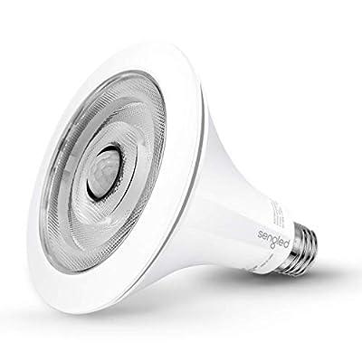 Sengled Smartsense Motion Sensor & Light Sensor Bulb Outdoor Waterproof LED Flood Light Bulb Dusk to Dawn Warm White 3000K (3rd Gen) PAR38 E26 Lamp, 1 Pack