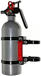 "Axia Alloys Quick Release Fire Extinguisher Mount w/ 2 lb. Extingushier and Two 1.75 "" Clamps"