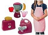 Kids Kitchen Appliance Pretend Play Set Bundle Includes Barbie Mixer, Blender and Toaster