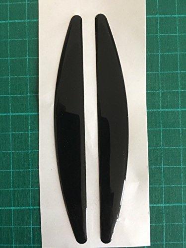 De Voiture automatique de porte de coffre Edge carrosserie Peinture protecteurs X2 Noir Taille 15 mm x 120 mm