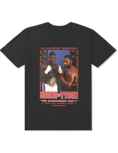 FRANK Bruno VS Mike Tyson Boxing Tshirt Memorabilia Fashion Boxing Fan TKO Legen