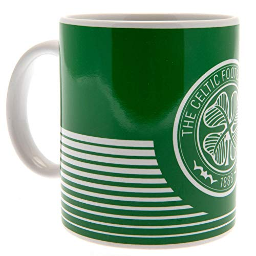 Official Glasgow Celtic FC Green with White Hoops Ceramic Mug