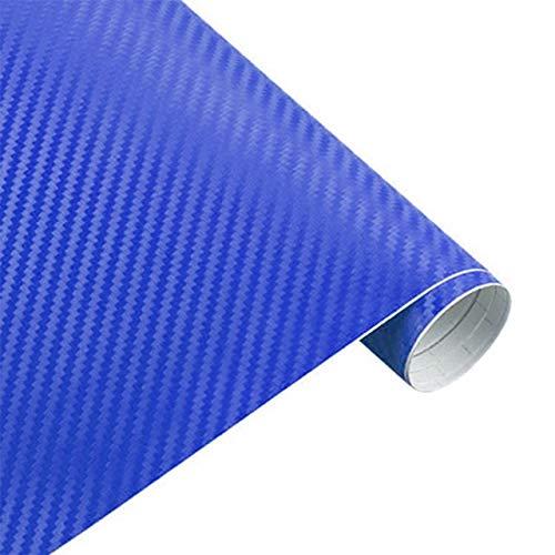 3D Sticker auto Accessori auto in fibra di carbonio vinile avvolgere Film foglio Rullo Car Decal Film Car Styling for auto Accessori for moto (Color Name : Blue)