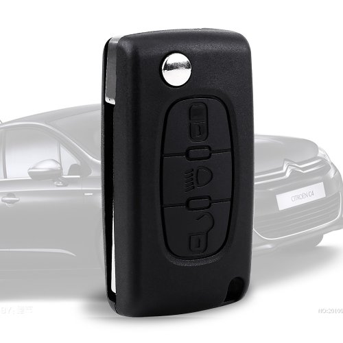 3 Botón Carcasa de mando Key Llave Coche para CITROEN C2 C3 C5 C6 C4 Picasso