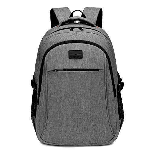 Travel Laptop Backpack, Water Resistant 17 Inch Largre Capacity Computer Backpacks with USB Grey