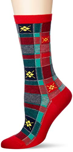 Burlington Damen Tartan Check W SO Socken, rot (red Pepper 8074), Einheitsgröße (DE 36-41)