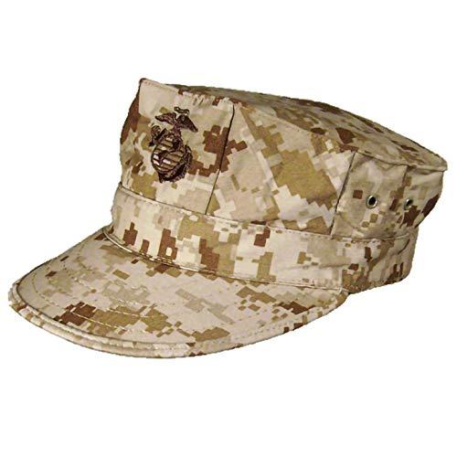 USMC Desert Digital 8-Point Utility Garrison Cover with Emblem (MD)