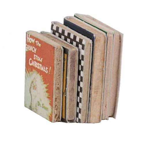 6PCS 01:12 Dollhouse miniatura Ornamento di legno Libri Set Decoration migliori regali Colorful Dolls Libri