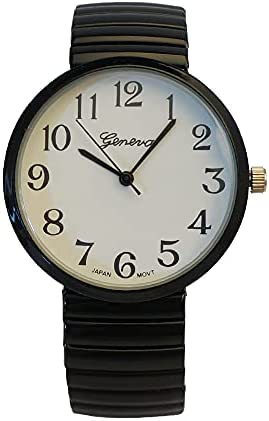Black geneva watch