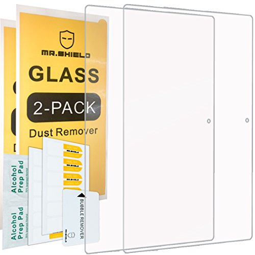 [2-PACK]-Mr.Shield Designed For Lenovo Miix 510 12.2' 2-in-1 Laptop Tablet [Tempered Glass] Screen Protector [0.3mm Ultra Thin 9H Hardness 2.5D Round Edge] with Lifetime Replacement