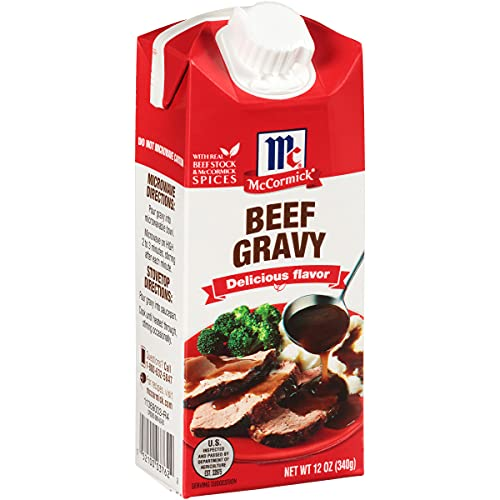McCormick Simply Better Beef Gravy, 12 oz (Pack of 8)