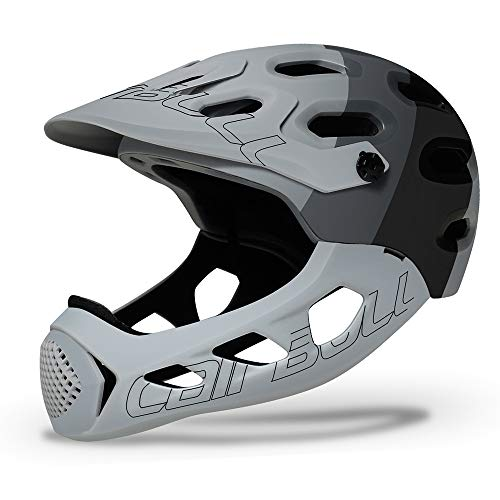 RONSHIN Cairbull ALLCROSS Mountain Cross-Country Bicycle Full Face Helmet Extreme Sports Safety Helmet Black ash M/L (56-62CM)