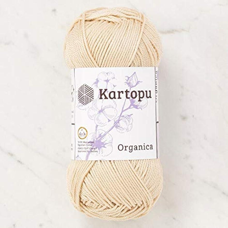 5 Skein (Pack) Total 8.8 Oz. Kartopu Organica, 100% Mercerized Cotton, Each 1.76 Oz (50g) / 136 Yrds (125m) Soft, 3 Light DK, Beige - K1838