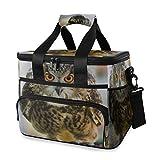 LINPM Bolsa de refrigerador, Eurasia Eagle Owl B Bubo One 15l Bolsa de Almuerzo con Aislamiento Grande Picnic Cooler, Mochila de refrigerador