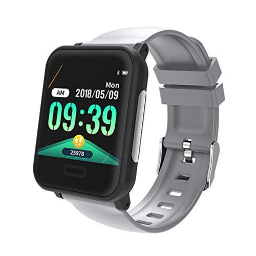 GaLon Activity Tracker, 1,3 inch (1,3 cm) kleuren-touchscreen, fitness tracker, waterdicht, ECG Dual hartslagbewaking ECG + PPG Sport, Zilvergrijs