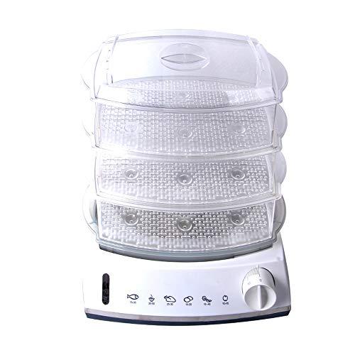YILIAN Inicio Vaporera eléctrica de Alimentos Olla de Vapor Multifuncional Potencia automática de 3 Capas Cocina a Vapor de Gran Capacidad para mariscos