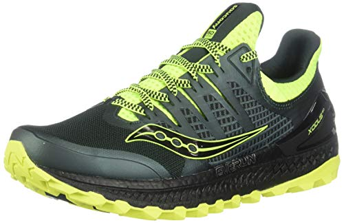 Saucony Men's Xodus ISO 3 Road Running Shoe, Green/Citron, 10.5 M US