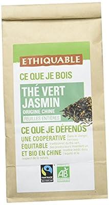 Ethiquable Thé Vert Jasmin Chine Vrac Bio et Équitable