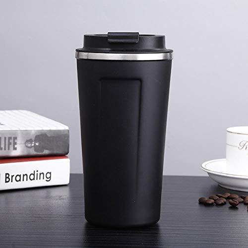 WENSISTAR Auslaufsichere Flasche Ideale Isolierflasche,Edelstahl kaffeetasse, Auto kolben, Business büro wassertasse @ Black_500ml,Thermosflasche