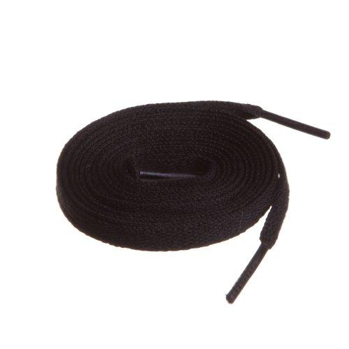 BIRCH#039s Shoelaces in 27 Colors Flat 5/16quot Shoe Laces in 4 Different Lengths 295quot 75cm Black