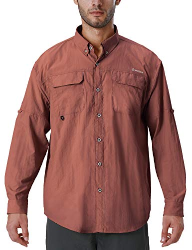 Naviskin Mens UPF 50 Sun Protection Outdoor Long Sleeve Shirt Lightweight Quick Dry Cooling Fishing Shirts