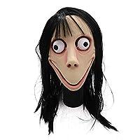 ゾンビが現実的なマスカレードハロウィンは長い髪の幽霊怖いマスクマスクマスクヘッジハロウィーンゾンビマスク小道具呪怨ゴースト (Color : B)