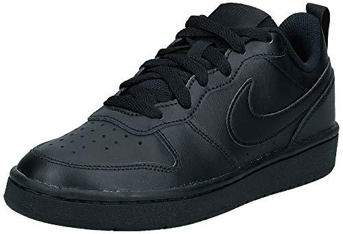 Nike Court Borough Low 2, Chaussures de Basketball Mixte Enfant -Noir (Black/Black-Black 1) - 38 EU