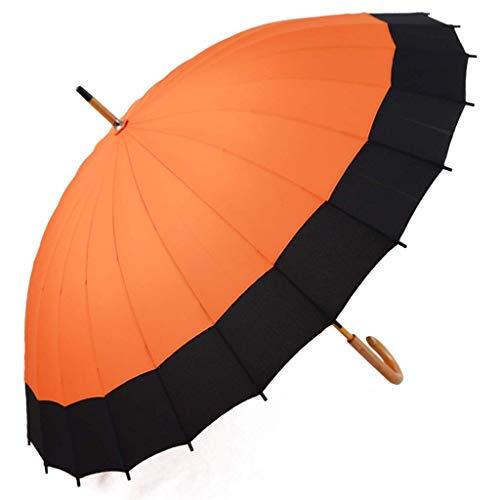JJYGONG Iris Asa de Asa de Iris 24K Super Doble Doble Tres Abrir Abrir 16 Color Lluvia Y Lluvia Dual Paraguas Pintura de secado rápido/B