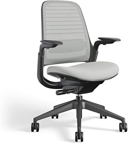 Steelcase Series 1 Work Chair Office Chair - Graphite Frame Nickel Cushions