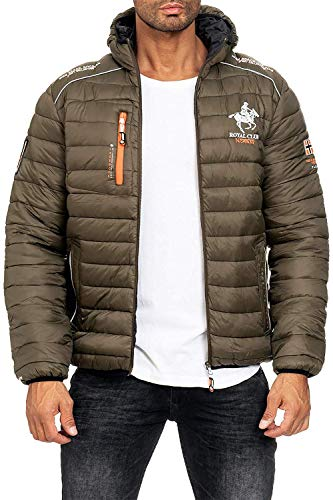 Geographical Norway Herren Steppjacke Brick Kaki L