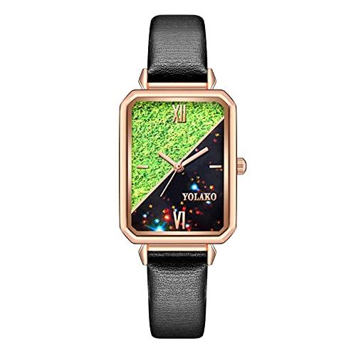 CXJC Reloj Casual Delgado de Las señoras de Todos los Partidos. Reloj de Cuarzo Rectangular Creativo. Dial de aleación de 40 * 20 mm (Color : C)
