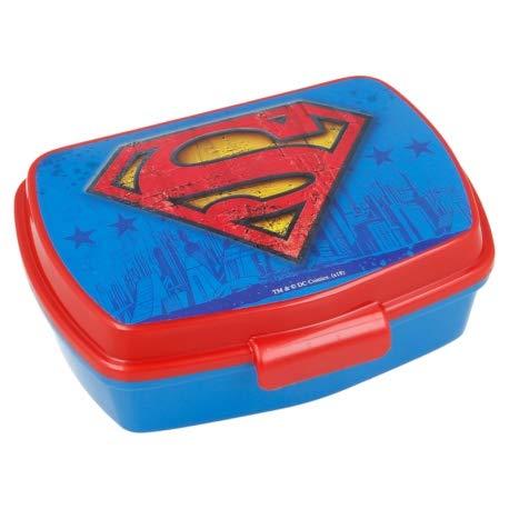 ILS I LOVE SHOPPING Contenitore Termico Porta merenda Scatola Sandwich Box per Bambini (Superman)