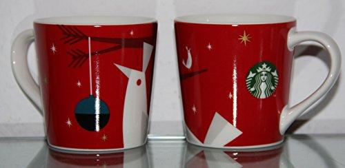 Starbucks - MUG Set : 2 pieces - Espresso cups - Christmas 2011 / 2012 MUG RED TO GO - 3 OZ
