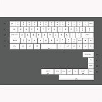 白プロファイルキーキャップ色素サブ紫フォントの色PBTキーキャップのための機械的キーボードGh60 Xd60 Xd84 Tada68 87 96 104 互換用キートップ (Color : CW minila)