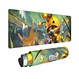 Teemo LOL League Legends Mouse Pad,LOL Large Gaming Mouse Pad,Non-Slip Rubber Table Mat and Keyboard Mat for Pc Computer
