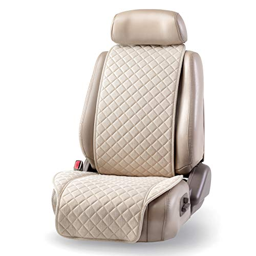 IVICY Linen Car Seat Cover, Car Seat Protector - Universal Premium Covers for Women, Men, Girls,...