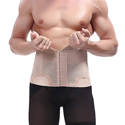 QitunC Herren Bauchweggürtel Abnehmen Slim Body Shaper Bauch Gürtel Taille Unterstützung Nackt L