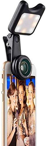 Luce a pannello per video tascabile, anello con clip per migliorare la luce notturna per selfie, webcam, luce per videoconferenza, telefono cellulare Live Light Desktop fotocamera obiettivo, B