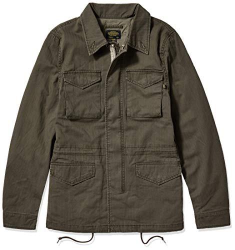 ALPHA INDUSTRIES Herren Revival Decorated MID Length Zip Field Jacket Jacke, M-65 Olive, X-Klein
