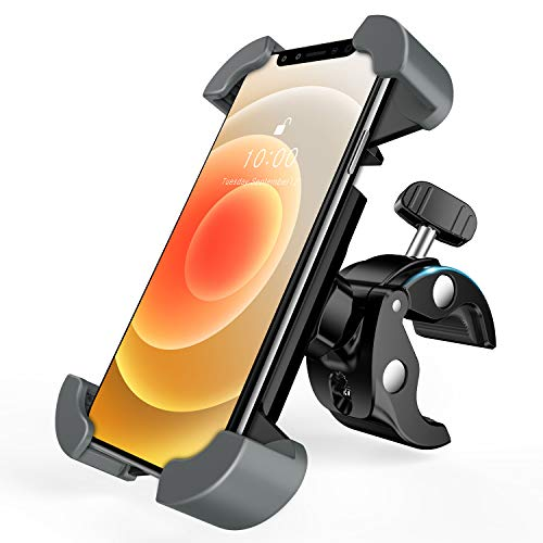 enGMOLPHY Cell Phone Holder for Bike, [Designed for Large Phones & Thick Cases] Bicycle Motorcycle Bike Phone Mount, Compatible with iPhone 12 SE 11 Pro Max XR 8 7 Samsung S20/10/9/8 and More