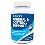 Dr. Berg's Adrenal & Cortisol Support Supplement - Natural Stress & Anxiety Relief for a Better Mood, Focus and Relaxation - Turn Off Your Busy Mind - Vegetarian Ingredients 90 Capsules (1 Pack)