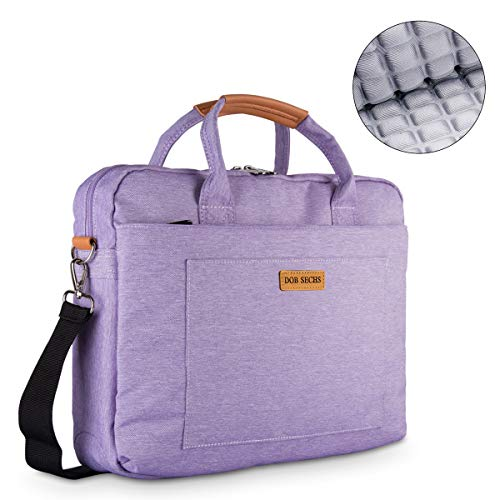 DOB SECHS 15-15.6 Zoll Laptoptasche Aktentaschen Handtasche Tragetasche Schulter Tasche Notebooktasche Laptop Sleeve Laptop hülle für bis zu 15.6 Zoll Laptop Dell Alienware/MacBook/Lenovo/HP, violett