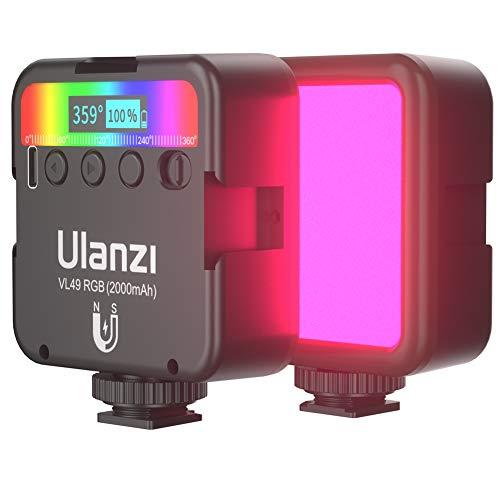 HAFOKO VL49 Mini RGB LED-Licht Kleine Kamera Video Licht Farbe w 3 Kaltschuh 1/4