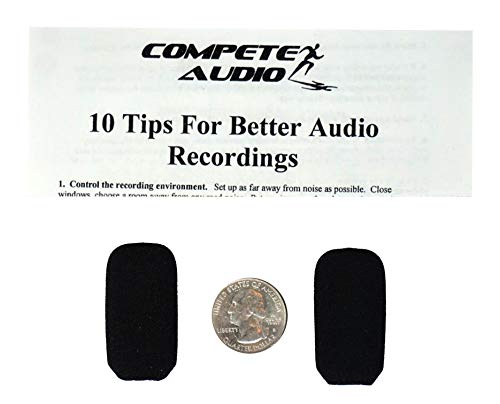 Compete Audio - Replacement Microphone Covers - For Lightspeed Aviation Pilot Headset Foam Windscreen - 2 Pack