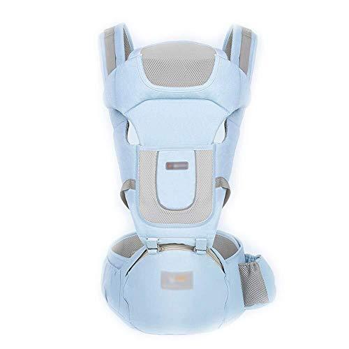 NJ Baby Carrier- Baby Carrier, Comfortabele Baby Carrier Katoen Baby met gewicht tot 30 Kg riemen in meerdere kleuren Blauw